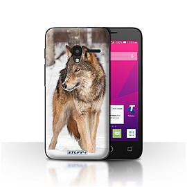 STUFF4 Case/Cover for Alcatel OneTouch Pixi 3 4 / Wolf Design / Wildlife Animals Collection Mobile phones