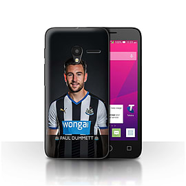 Official NUFC Case/Cover for Alcatel OneTouch Pixi 3 4/Dummett Design/NUFC Football Player 15/16 Mobile phones