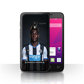 Official NUFC Case/Cover for Alcatel OneTouch Pixi 3 4/Ha?dara Design/NUFC Football Player 15/16 Mobile phones