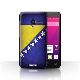 STUFF4 Case/Cover for Alcatel OneTouch Pixi 3 4 / Bosnia & Herzegovina Design / Flags Collection Mobile phones