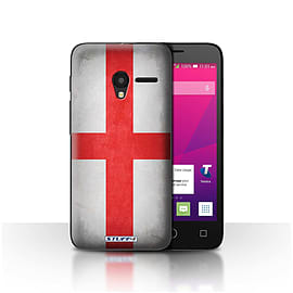 STUFF4 Case/Cover for Alcatel OneTouch Pixi 3 4 / England/English Design / Flags Collection Mobile phones