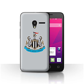 Official NUFC Case/Cover for Alcatel OneTouch Pixi 3 4.5/Colour/Grey Design/NUFC Football Crest Mobile phones