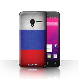 STUFF4 Case/Cover for Alcatel OneTouch Pixi 3 4.5 / Russia/Russian Design / Flags Collection Mobile phones