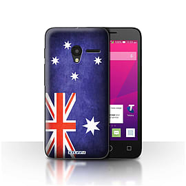 STUFF4 Case/Cover for Alcatel OneTouch Pixi 3 5 / Australia/Australian Design / Flags Collection Mobile phones