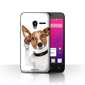 STUFF4 Case/Cover for Alcatel OneTouch Pixi 3 5 / Listening Dog Design / Funny Animals Collection Mobile phones