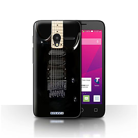 STUFF4 Case/Cover for Alcatel OneTouch Pixi 3 5 / Black Electirc Design / Guitar Collection Mobile phones