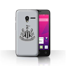 Newcastle United FC Case/Cover for Alcatel OneTouch Pixi 3 5/Mono/Grey Design/NUFC Football Crest Mobile phones
