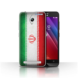 STUFF4 Case/Cover for Asus Zenfone Go ZC500TG / Iran/Iranian Design / Flags Collection Mobile phones