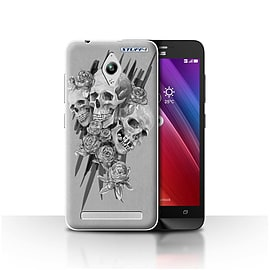 STUFF4 Case/Cover for Asus Zenfone Go ZC500TG / Three Design / Skull Art Sketch Collection Mobile phones