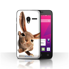 STUFF4 Case/Cover for Alcatel OneTouch Pixi 3 4 / Peeking Bunny Design / Funny Animals Collection Mobile phones