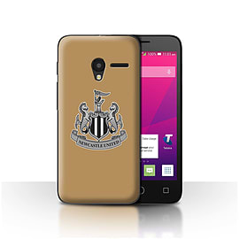 Newcastle United FC Case/Cover for Alcatel OneTouch Pixi 3 4/Mono/Gold Design/NUFC Football Crest Mobile phones