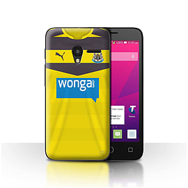 Official NUFC Case/Cover for Alcatel OneTouch Pixi 3 4/Goalkeeper Design/NUFC Home Shirt/Kit 15/16 Mobile phones