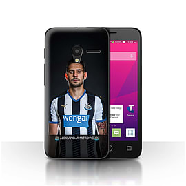 Official NUFC Case/Cover for Alcatel OneTouch Pixi 3 4/Mitrovic Design/NUFC Football Player 15/16 Mobile phones