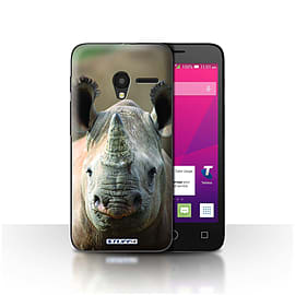 STUFF4 Case/Cover for Alcatel OneTouch Pixi 3 4.5 / Rhino Design / Wildlife Animals Collection Mobile phones