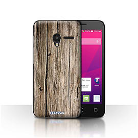 STUFF4 Case/Cover for Alcatel OneTouch Pixi 3 4.5/Driftwood Design/Wood Grain Effect/Pattern Mobile phones