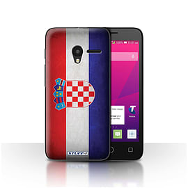 STUFF4 Case/Cover for Alcatel OneTouch Pixi 3 4 / Croatia/Croatian Design / Flags Collection Mobile phones