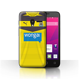 Official NUFC Case/Cover for Alcatel OneTouch Pixi 3 4.5/Goalkeeper Design/NUFC Home Shirt/Kit 15/16 Mobile phones