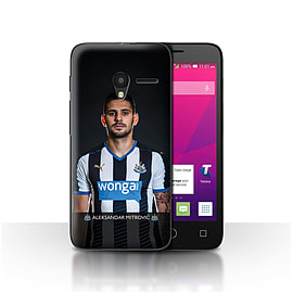 Official NUFC Case/Cover for Alcatel OneTouch Pixi 3 4.5/Mitrovic Design/NUFC Football Player 15/16 Mobile phones