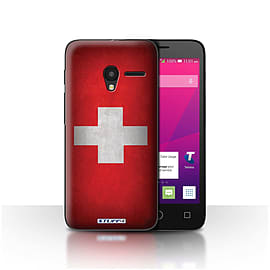 STUFF4 Case/Cover for Alcatel OneTouch Pixi 3 4.5 / Switzerland/Swiss Design / Flags Collection Mobile phones