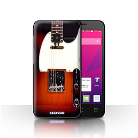 STUFF4 Case/Cover for Alcatel OneTouch Pixi 3 4.5 / Sunburst Electric Design / Guitar Collection Mobile phones