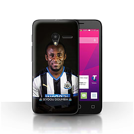 Official NUFC Case/Cover for Alcatel OneTouch Pixi 3 5/Doumbia Design/NUFC Football Player 15/16 Mobile phones