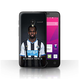 Newcastle United FC Case/Cover for Alcatel OneTouch Pixi 3 5/Tiot? Design/NUFC Football Player 15/16 Mobile phones