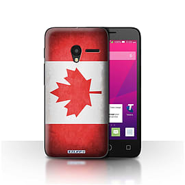 STUFF4 Case/Cover for Alcatel OneTouch Pixi 3 5 / Canada/Canadian Design / Flags Collection Mobile phones