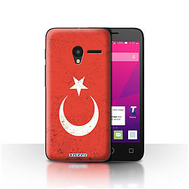 STUFF4 Case/Cover for Alcatel OneTouch Pixi 3 5 / Turkey/Turkish Design / Flags Collection Mobile phones