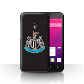 Newcastle United FC Case/Cover for Alcatel OneTouch Pixi 3 5/Colour/Black Design/NUFC Football Crest Mobile phones