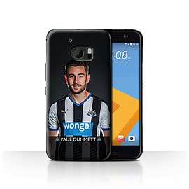 Newcastle United FC Case/Cover for HTC 10/One M10 (2016)/Dummett Design/NUFC Football Player 15/16 Mobile phones