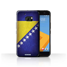 STUFF4 Case/Cover for HTC 10/One M10 (2016) / Bosnia & Herzegovina Design / Flags Collection Mobile phones