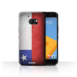 STUFF4 Case/Cover for HTC 10/One M10 (2016) / Chile/Chiliean Design / Flags Collection Mobile phones