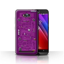 STUFF4 Case/Cover for Asus Zenfone Max ZC550KL / Purple Design / Circuit Board Collection Mobile phones