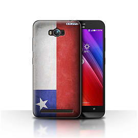STUFF4 Case/Cover for Asus Zenfone Max ZC550KL / Chile/Chiliean Design / Flags Collection Mobile phones