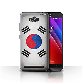 STUFF4 Case/Cover for Asus Zenfone Max ZC550KL / Korea/Korean Design / Flags Collection Mobile phones