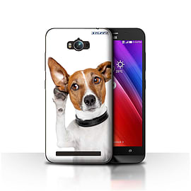 STUFF4 Case/Cover for Asus Zenfone Max ZC550KL / Listening Dog Design / Funny Animals Collection Mobile phones