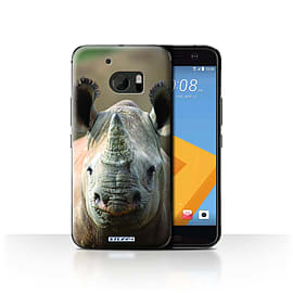STUFF4 Case/Cover for HTC 10/One M10 (2016) / Rhino Design / Wildlife Animals Collection Mobile phones