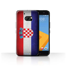 STUFF4 Case/Cover for HTC 10/One M10 (2016) / Croatia/Croatian Design / Flags Collection Mobile phones