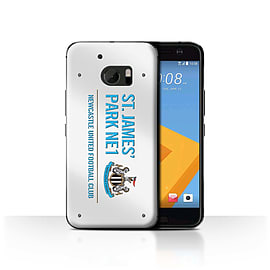 Newcastle United FC Case/Cover for HTC 10/One M10 (2016)/White/Blue Design/St James Park Sign Mobile phones