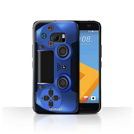 STUFF4 Case/Cover for HTC 10/One M10 (2016) / Blue Design / Playstation PS4 Collection Mobile phones