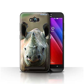 STUFF4 Case/Cover for Asus Zenfone Max ZC550KL / Rhino Design / Wildlife Animals Collection Mobile phones