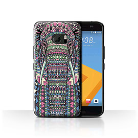 STUFF4 Case/Cover for HTC 10/One M10 (2016)/Elephant-Colour Design/Aztec Animal Mobile phones