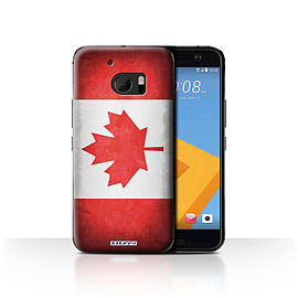 STUFF4 Case/Cover for HTC 10/One M10 (2016) / Canada/Canadian Design / Flags Collection Mobile phones