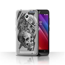 STUFF4 Case/Cover for Asus Zenfone Go ZC500TG / Thorns Design / Skull Art Sketch Collection Mobile phones