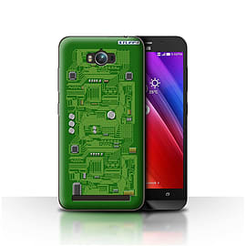 STUFF4 Case/Cover for Asus Zenfone Max ZC550KL / Green Design / Circuit Board Collection Mobile phones