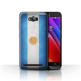 STUFF4 Case/Cover for Asus Zenfone Max ZC550KL / Argentina/Argentinean Design / Flags Collection Mobile phones
