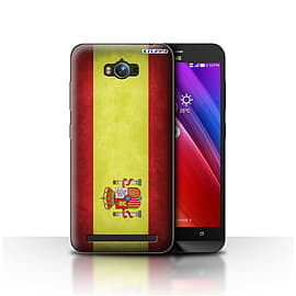 STUFF4 Case/Cover for Asus Zenfone Max ZC550KL / Spain/Spanish Design / Flags Collection Mobile phones