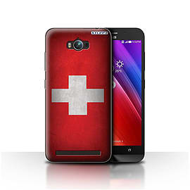 STUFF4 Case/Cover for Asus Zenfone Max ZC550KL / Switzerland/Swiss Design / Flags Collection Mobile phones