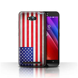 STUFF4 Case/Cover for Asus Zenfone Max ZC550KL / America/American/USA Design / Flags Collection Mobile phones