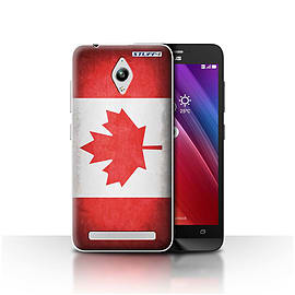 STUFF4 Case/Cover for Asus Zenfone Go ZC500TG / Canada/Canadian Design / Flags Collection Mobile phones